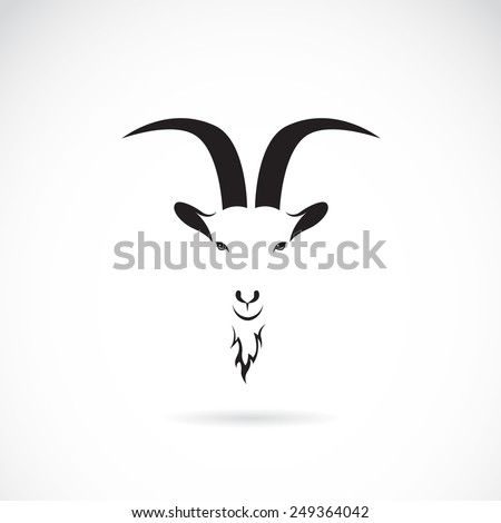 vector image of goat head on