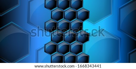 vector image of honeycombs in