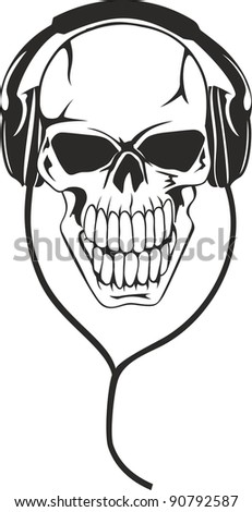 vector image of  human skull in