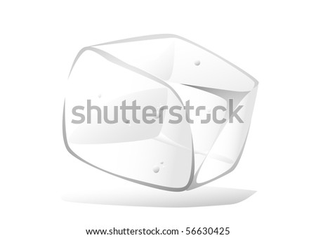 Vector image of ice cube