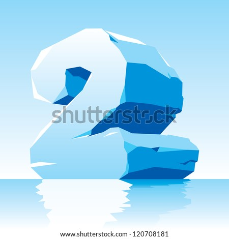 vector image of ice number 2