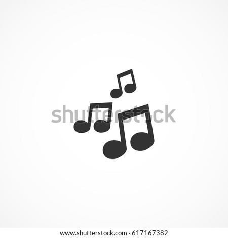 Vector image of icon music.