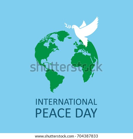 Vector image of international day of peace.