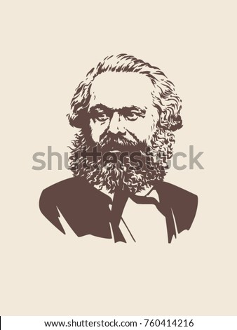 vector image of karl marx