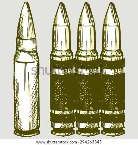 vector image of live ammunition
