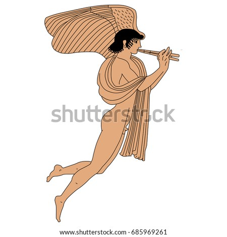 vector image of naked ancient