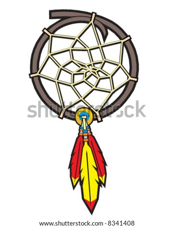 vector image of native american indian dreamcatcher