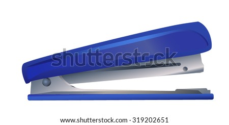 vector image of office supplies stapler