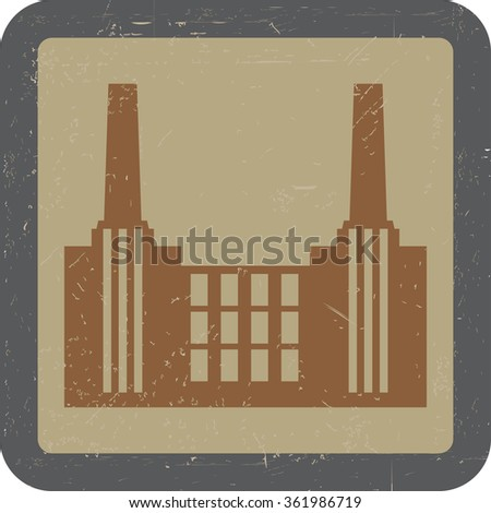 vector image of old factory