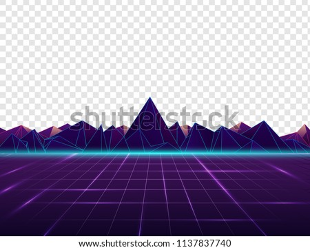 Vector image of old, retro, vintage style. Party banner, invitation, flyer, Futurism , advertising. Vector illustration of retro disco and dance. 80 s, 90 s style.