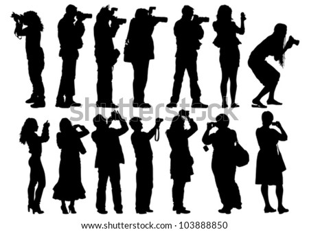 vector image of people with