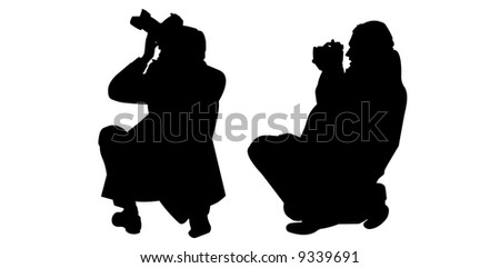 vector image of photographers at work