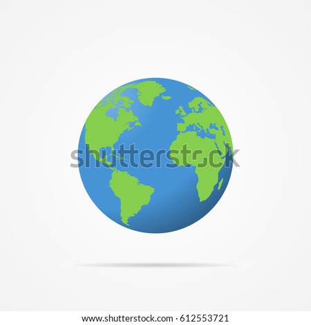 Vector image of planet earth.