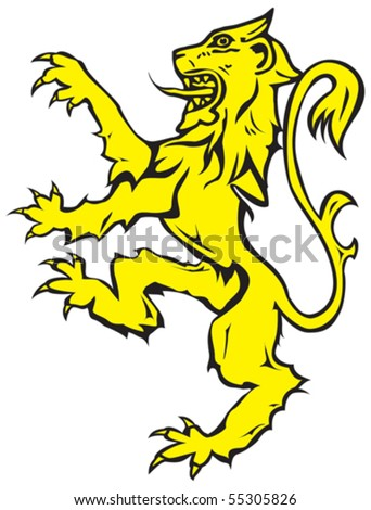 stock vector : Vector image of rampant lion