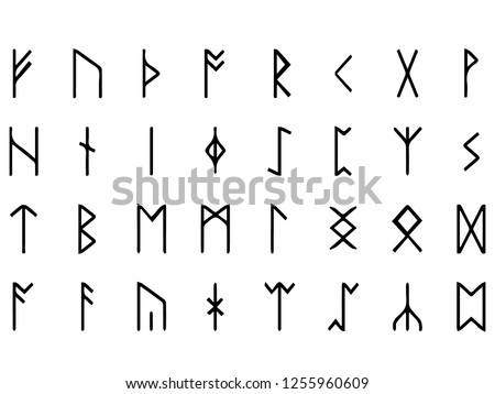 Vector image of runes