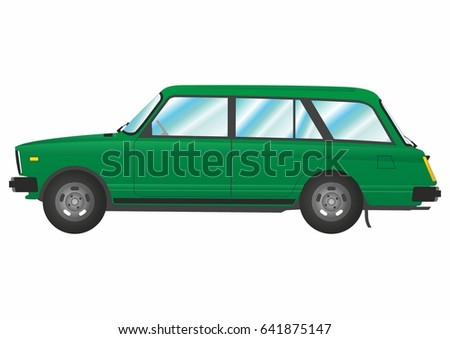 vector image of russian green