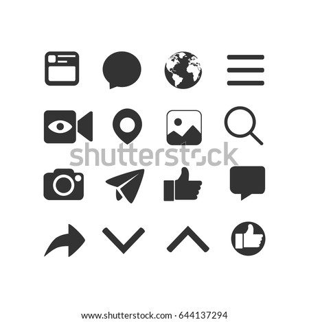 vector image of set of internet