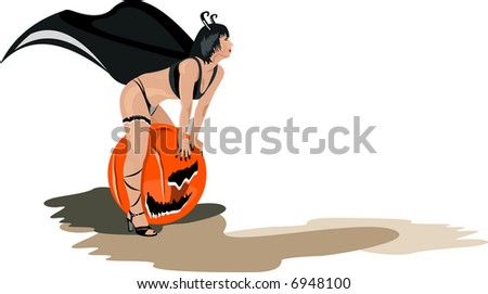vector image of sexy halloween