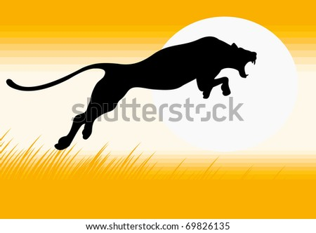 black panther silhouette download free vector art stock graphics