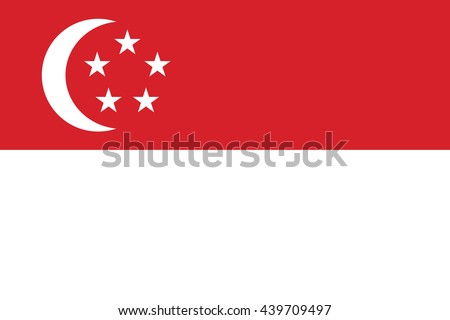 Vector image of  Singapore flag.