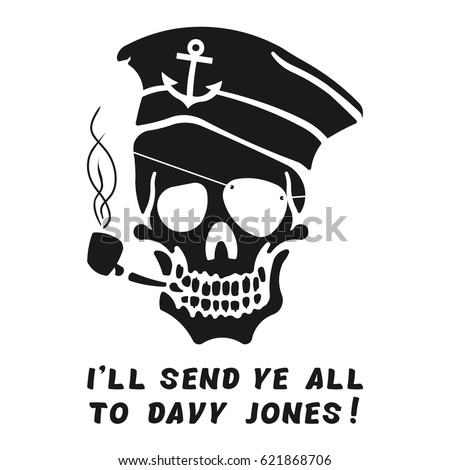 vector image of skull captain
