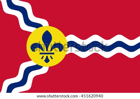 vector image of  st louis flag