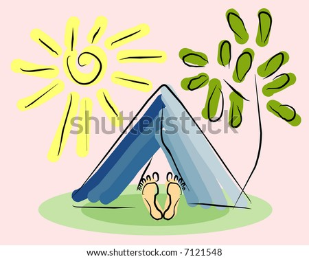 vector image of summer camp