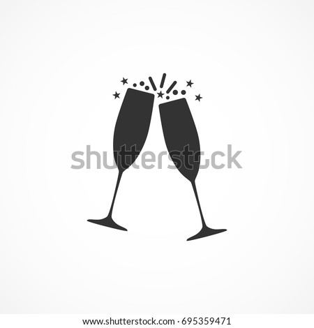 vector image of the champagne