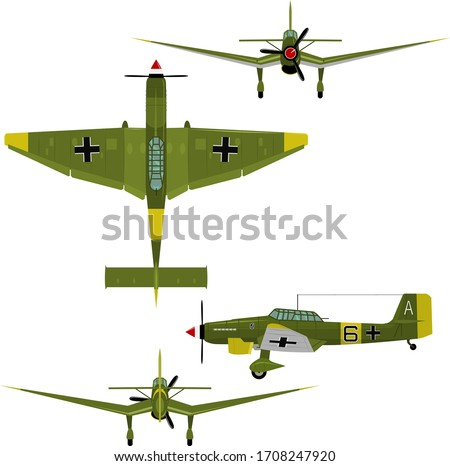 vector image of the german