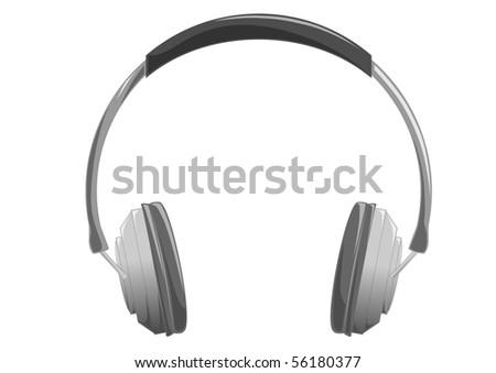 Vector image of the gray headphones