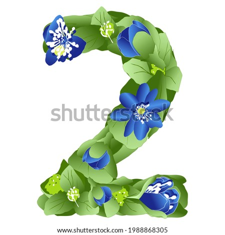 vector image of the number 2 in