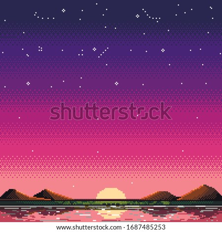 vector image of the reflection