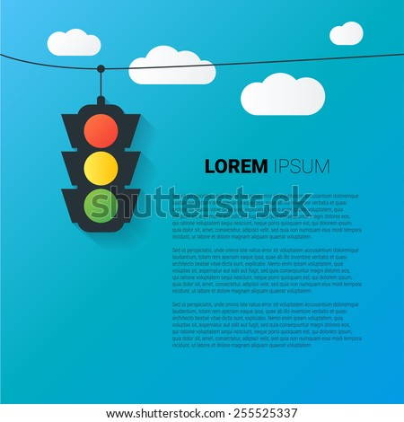vector image of traffic light