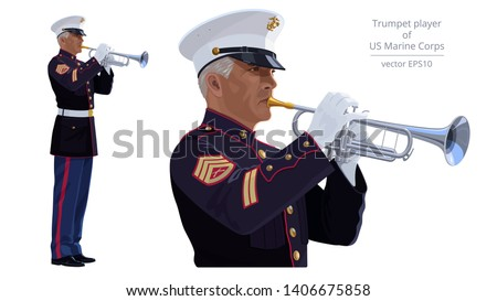 vector image of trumpet player
