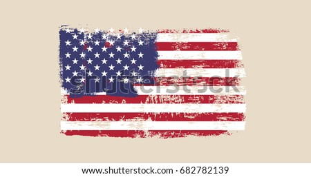 vector image of us flag