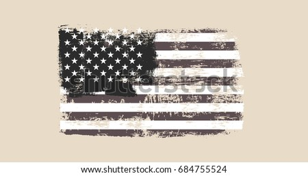 vector image of usa flag