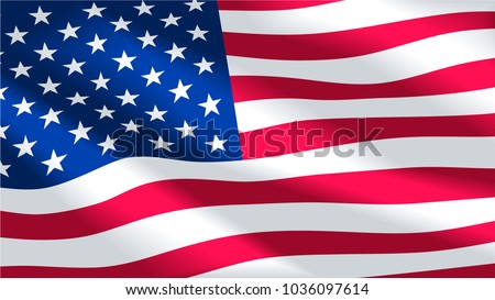 Vector image of USA flag background. Illustration. United States of America. The Star-Spangled Banner. Presidents Day. Memorial Day.