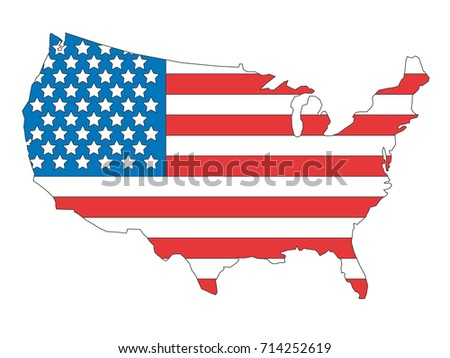 Vector image of USA map