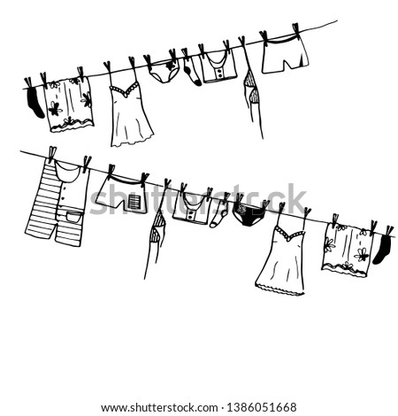 vector image of washed things
