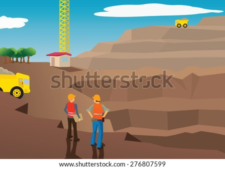 vector image of workers in a