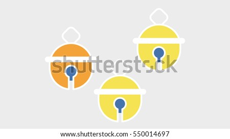 vector image of yellow and
