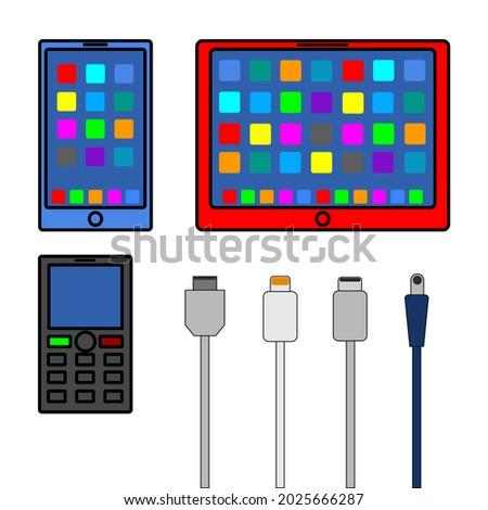 vector image phones  tablet
