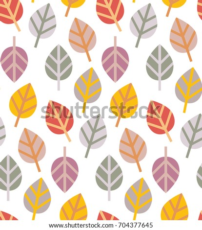 Vector image. Seamless abstract pattern on an autumn theme. Autumn leaves. Universal use.
