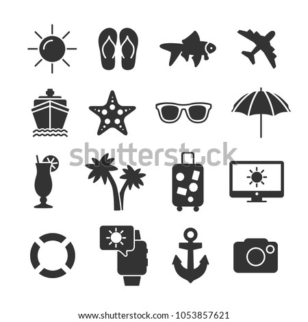 vector image set of summer