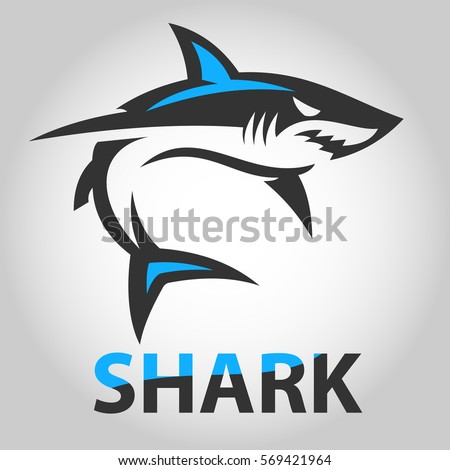 vector image shark icon