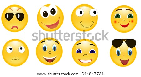 vector image  smiley  isolated