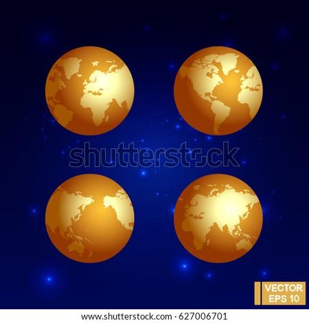 vector image the golden globe