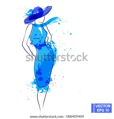 vector image the lady in the