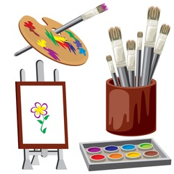 vector image tools and drawing materials