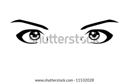 vector image woman eyes
